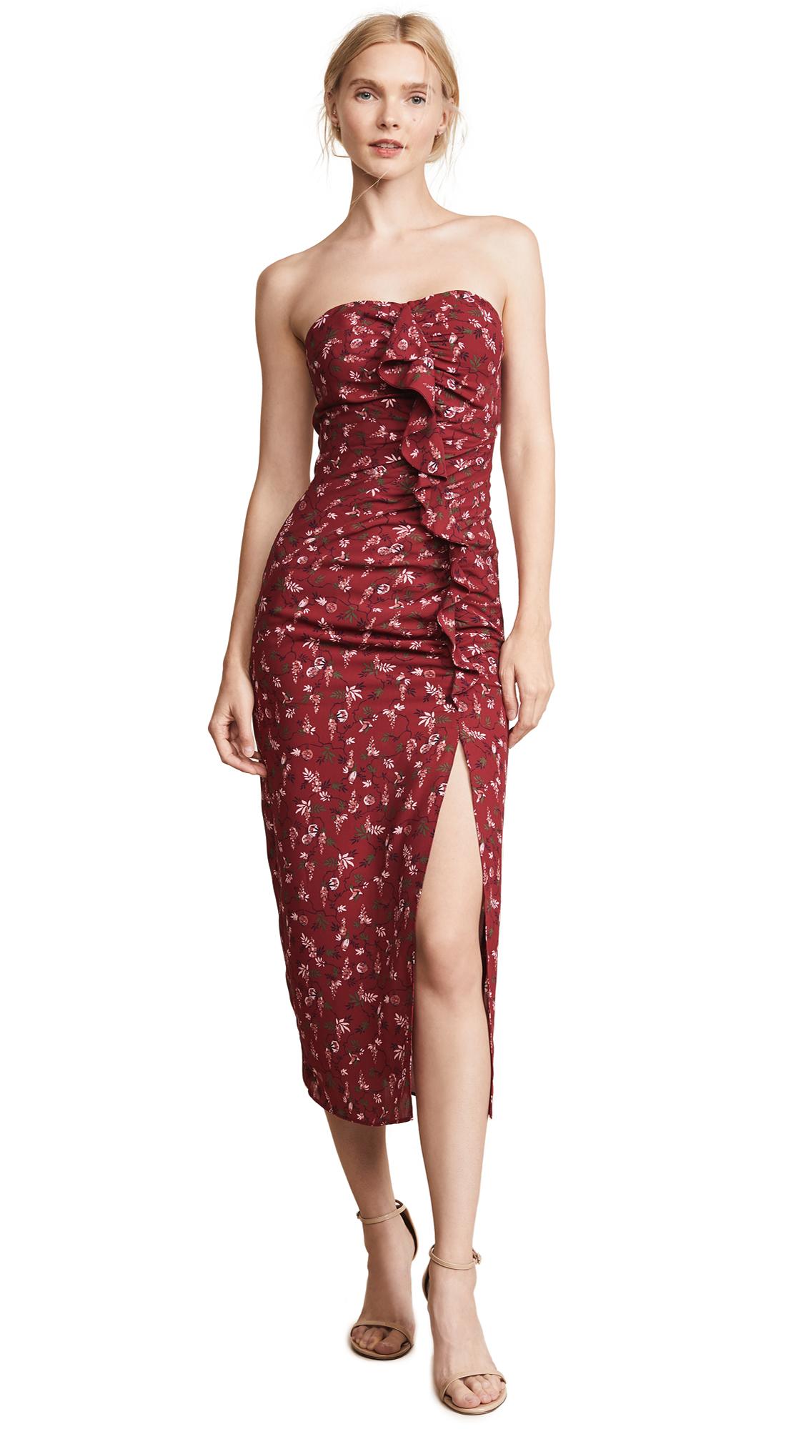 LIKELY Ali Dress In Rumba Red Multi