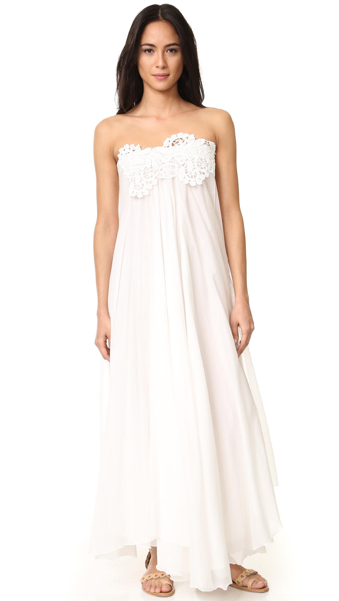 Lila.Eugenie Maxi Sun Wrap Dress - Ivory