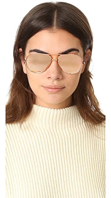 Linda Farrow Luxe 24k Rose Gold Sunglasses