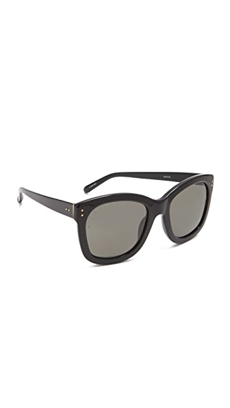 Linda Farrow Luxe Square Sunglasses - Black/Grey