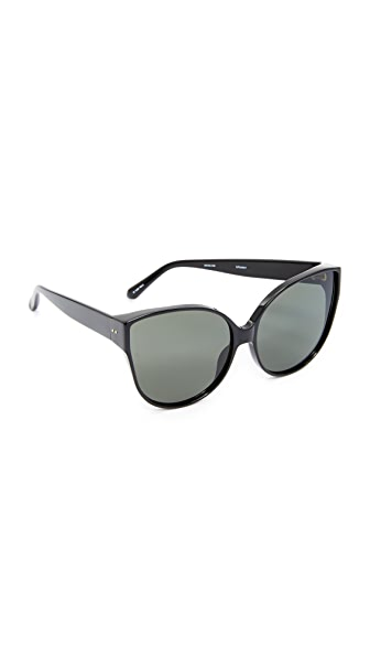 Linda Farrow Luxe Oversized Cat Eye Sunglasses - Black/Grey
