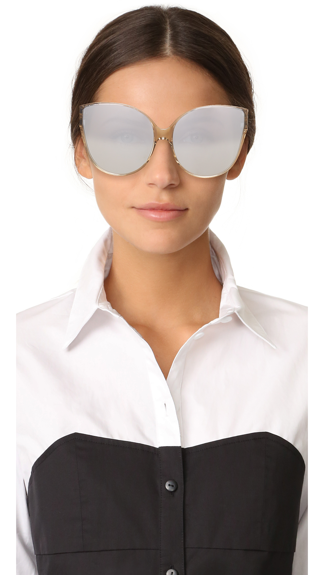 Oversized cat-eye sunglasses Linda Farrow 9WJX9VtC