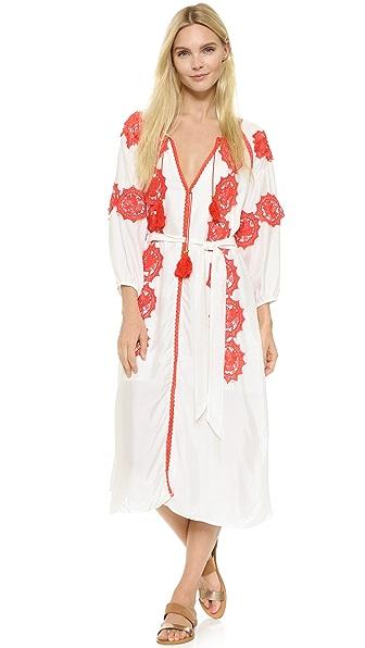 Line & Dot Beaux Embellishment Maxi Dress