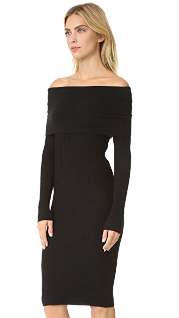 Line & Dot Lea Off Shoulder Dress
