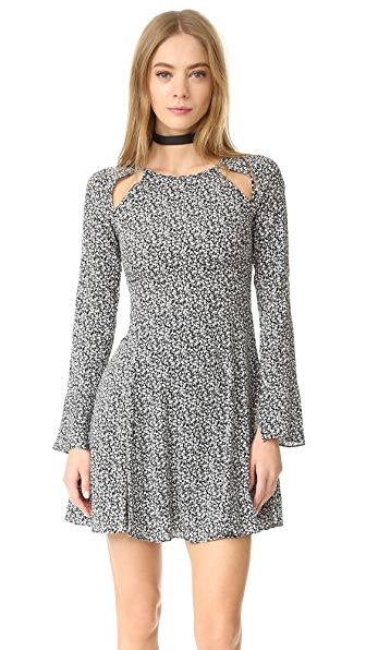 Line & Dot Camellia Slash Dress