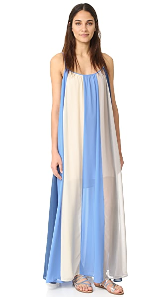 Line & Dot El Ray Color Block Maxi Dress