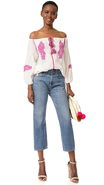 Line & Dot Alicia Embroidered Top