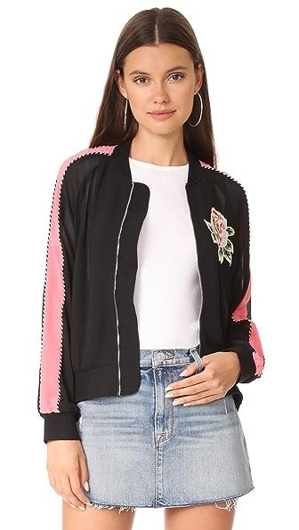 Line & Dot Celeste Track Jacket In Black