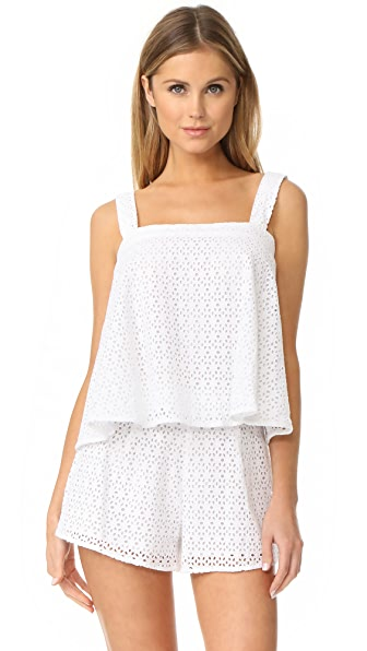 Line & Dot Gaby Tie Top - White