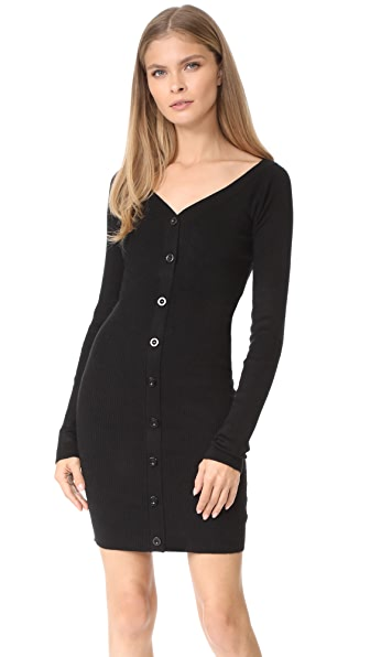 Line & Dot Camille Sweater Dress - Black