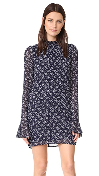 Line & Dot Adalyn Dress In Navy