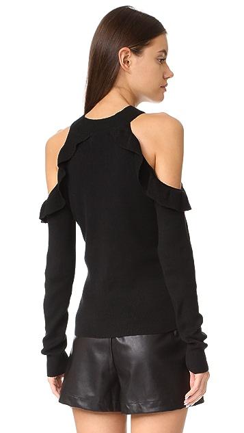 Line & Dot Beau Cold Shoulder Sweater