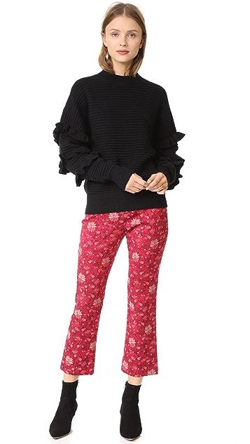 Line & Dot Beau Ruffle Sweater