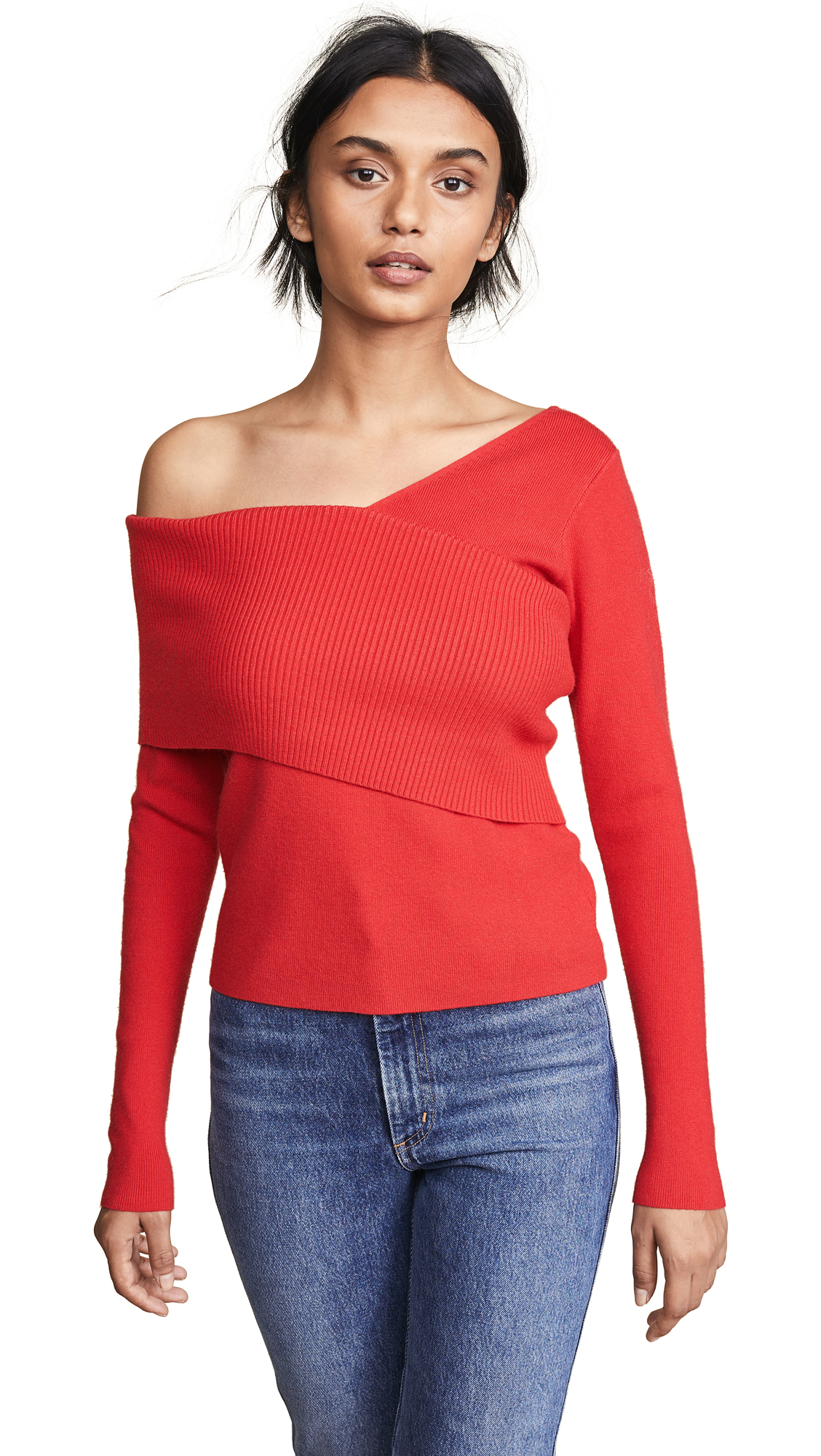LINE & DOT Sylvie Sweater in Red