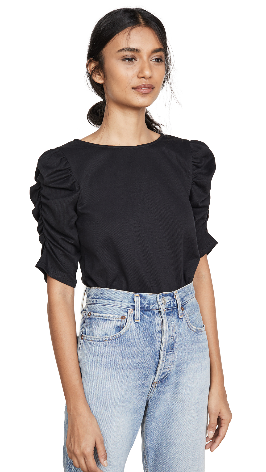 Buy Line & Dot online - photo of Line & Dot Morena Knit Ruched Top