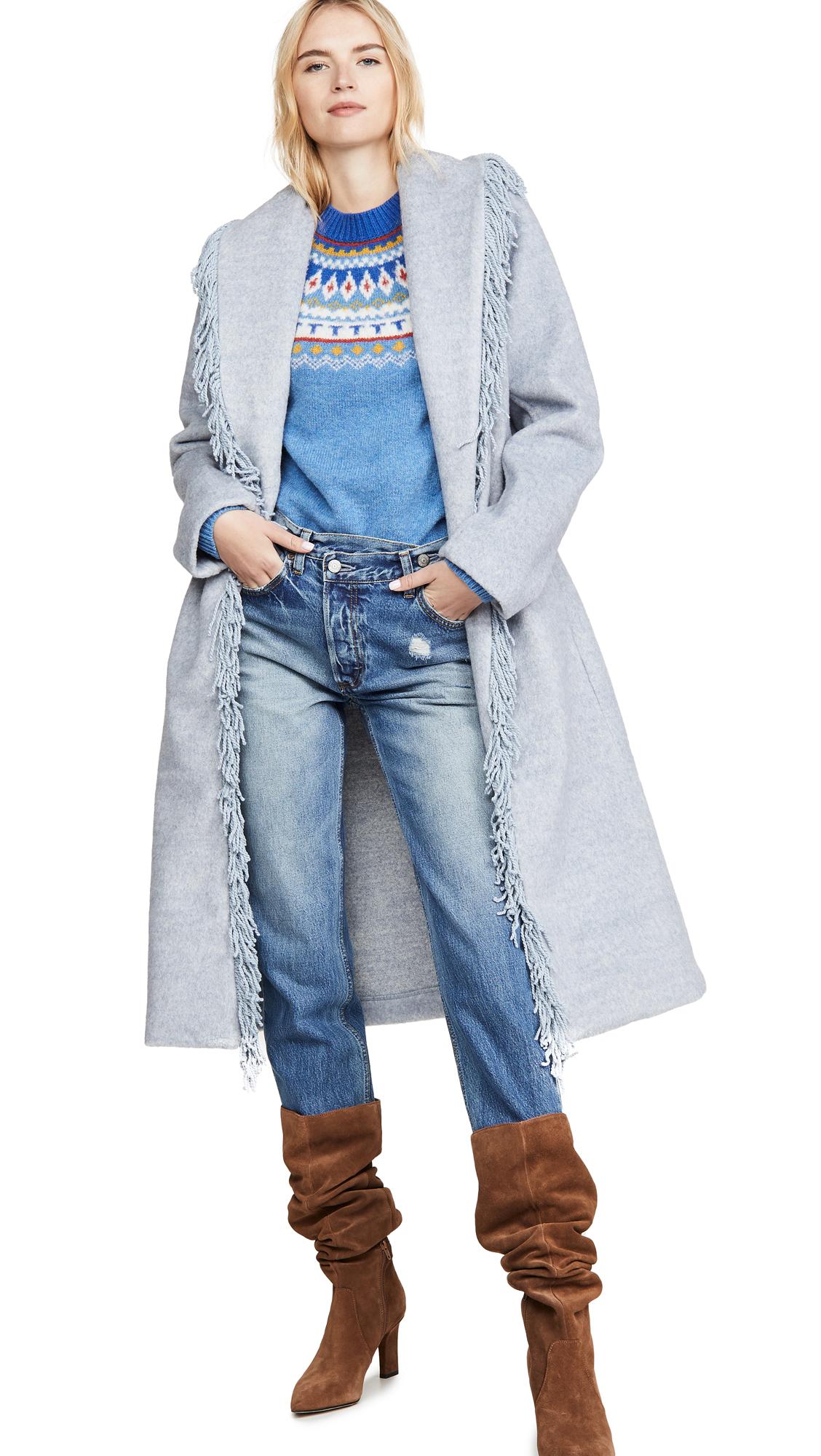 Buy Line & Dot Linda Fringe Coat online beautiful Line & Dot Clothing, Jackets