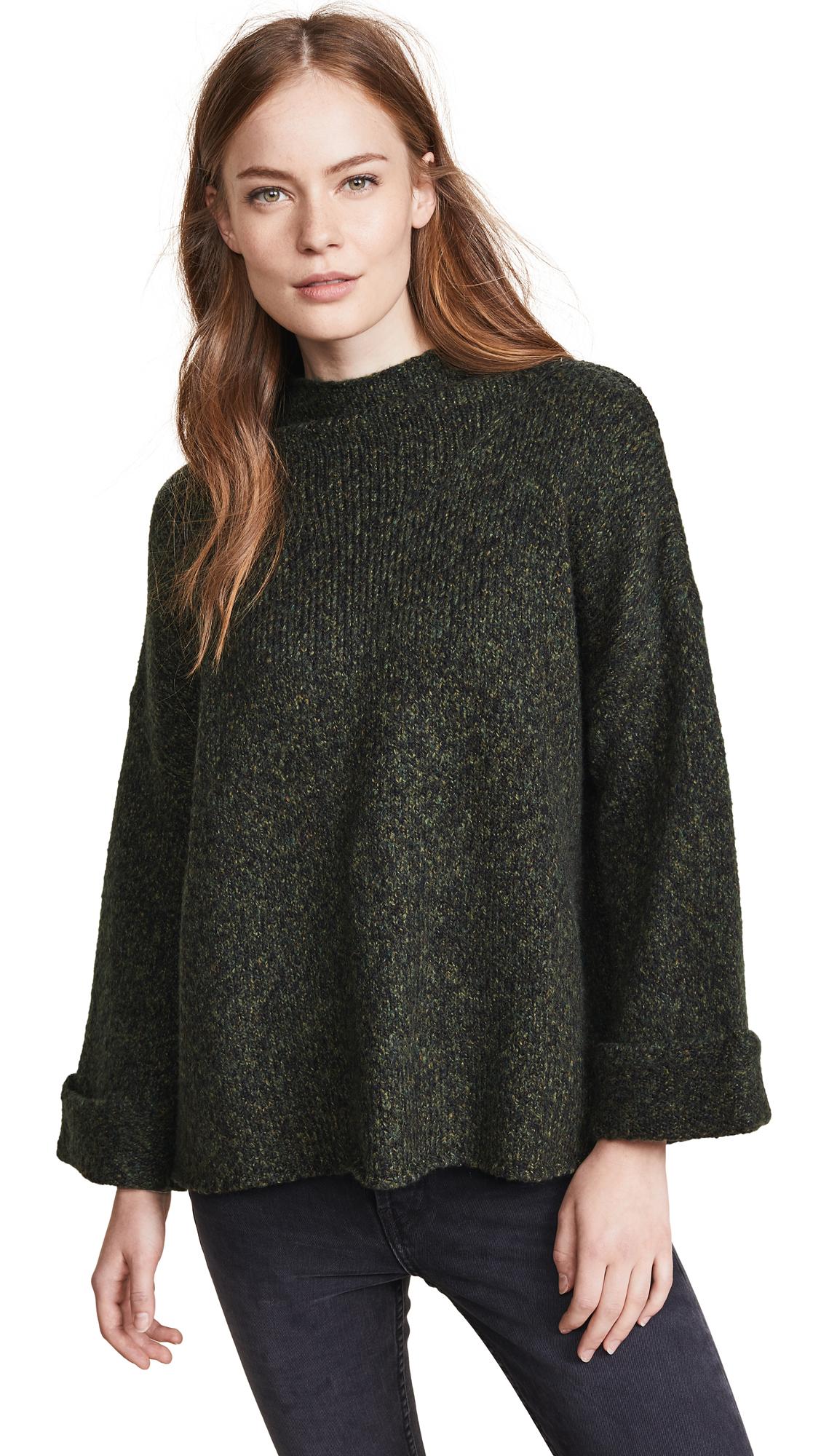 LINE Kira Funnel Neck Sweater in Crocodile
