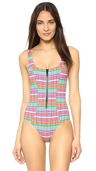 Lisa Marie Fernandez Jasmine Madras Swimsuit