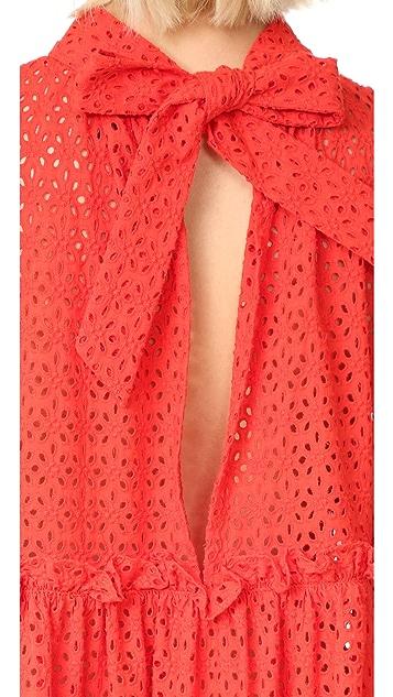 Lisa Marie Fernandez Ruffle Tier Dress