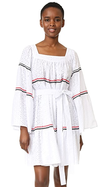 Lisa Marie Fernandez Short Peasant Dress