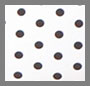 White Bonded/Black Polka Dot