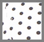White Bonded/Black Polka Dot