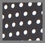 Black Bonded/White Polka Dot