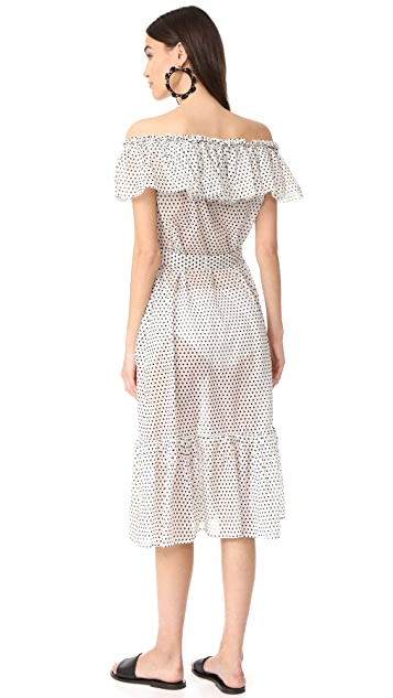 Lisa Marie Fernandez Mira Button Down Sheer Dress