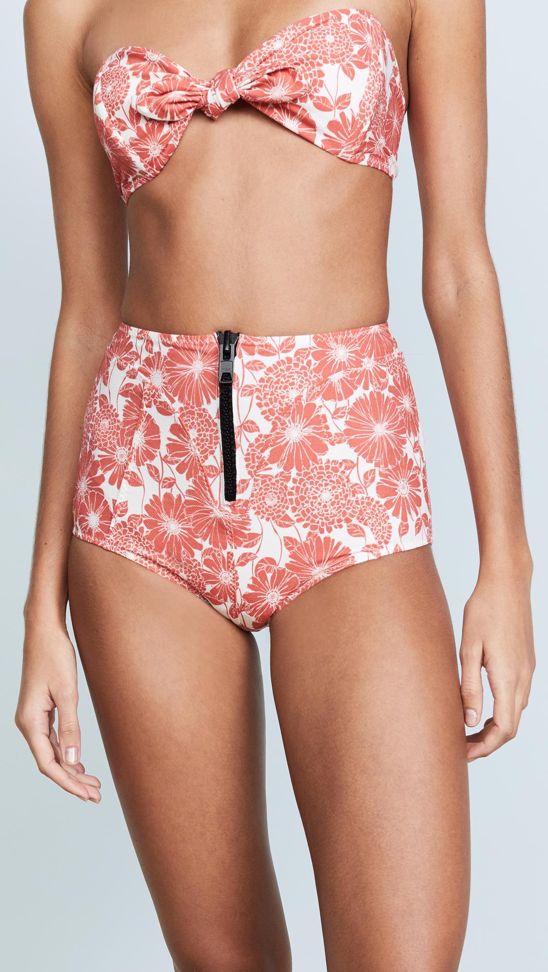 04b1831b3f6ab Lisa Marie Fernandez Poppy Tomato Floral High Waist Bikini   SHOPBOP