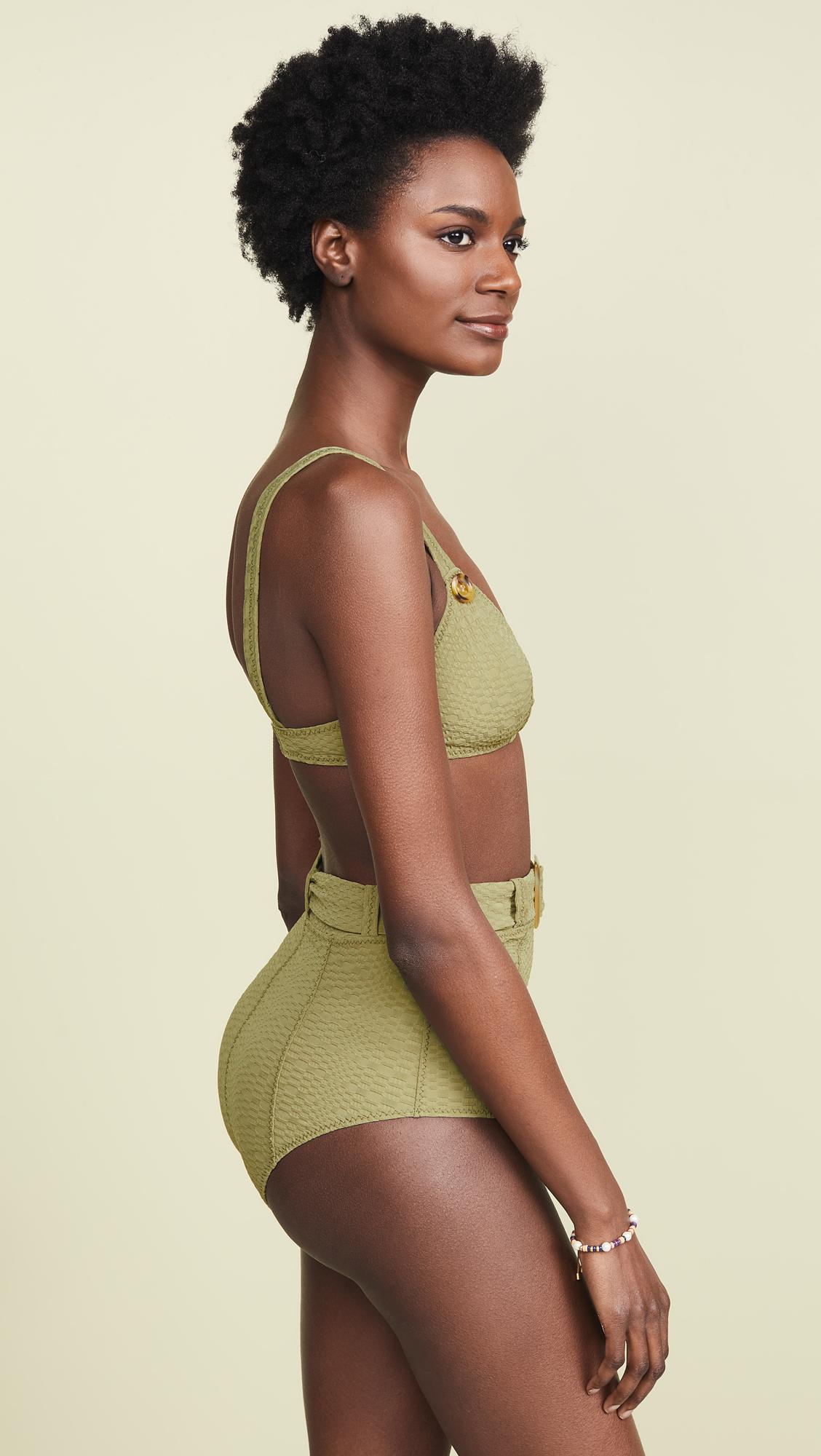 1ad5cb6e21da1 Lisa Marie Fernandez Magdalena Belted High Waisted Bikini | SHOPBOP