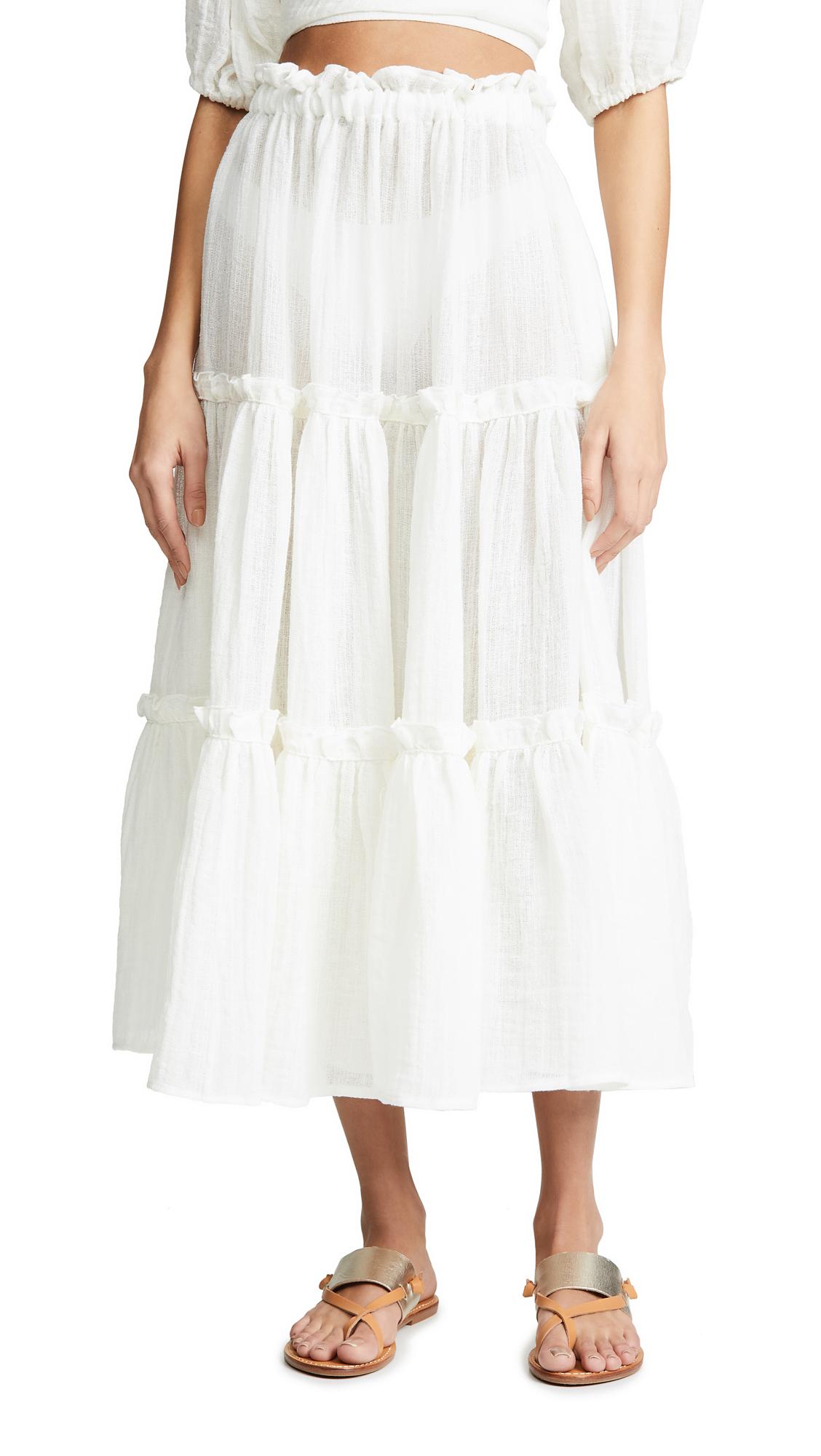 Buy Lisa Marie Fernandez online - photo of Lisa Marie Fernandez Ruffle Peasant Skirt