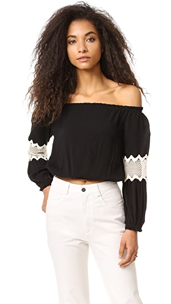 Liv Leti Off Shoulder Top - Black