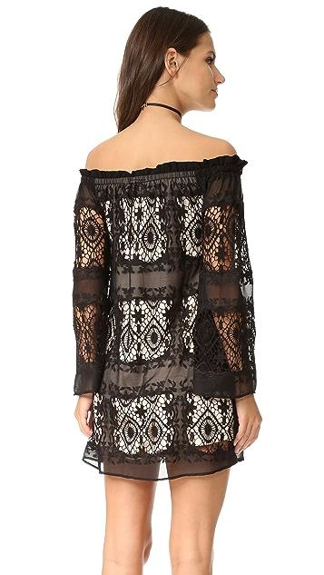 LIV Mantilla Off the Shoulder Dress