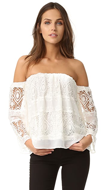 LIV Mantilla Off Shoulder Top