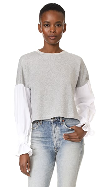 LIV Poet Sleeve Sweater In Heather