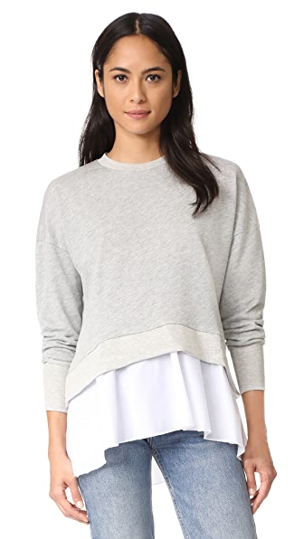 LIV Peplum Hem Sweatshirt In Heather