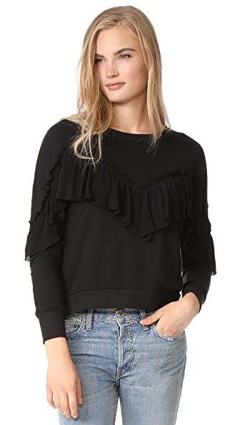 LIV Empire Ruffle Sweatshirt - Black