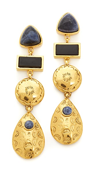 Lizzie Fortunato Concho Column Earrings