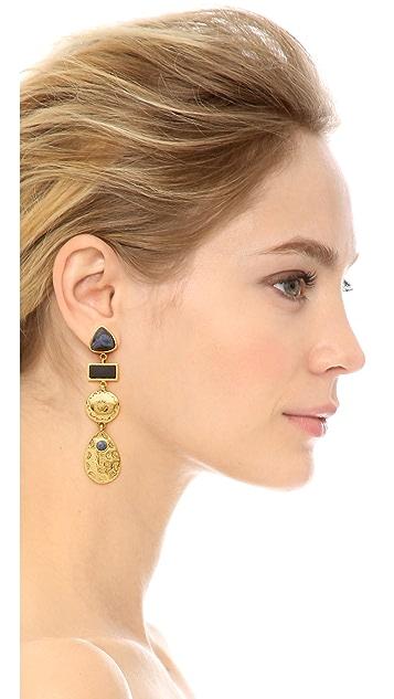 Lizzie Fortunato Concho Column Earrings