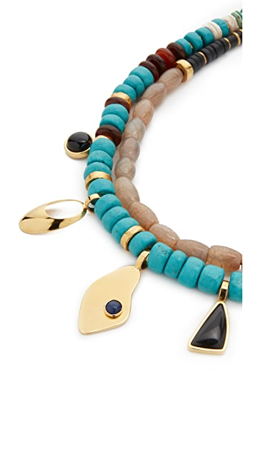 Lizzie Fortunato Turquoise Trail Necklace