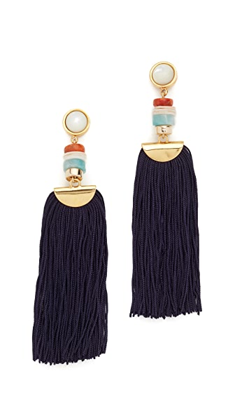 Lizzie Fortunato Indigo Tassel Earrings