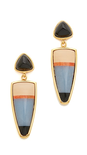 Lizzie Fortunato Lola Stripe Earrings