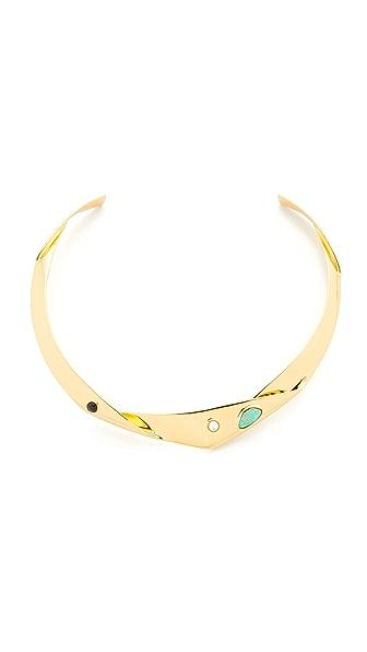 Lizzie Fortunato Organic Knot Collar Necklace - Gold Multi