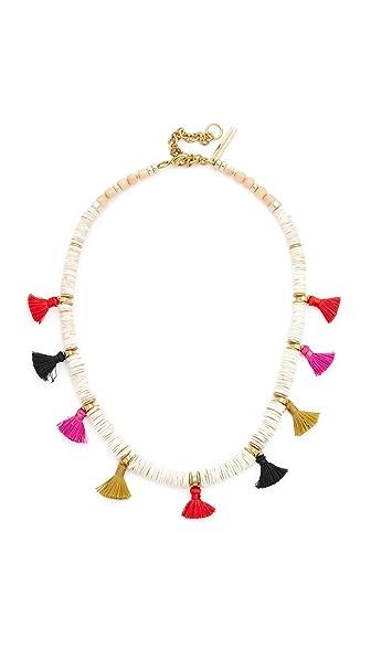 Lizzie Fortunato Land & Sea Necklace - Gold/White/Multi