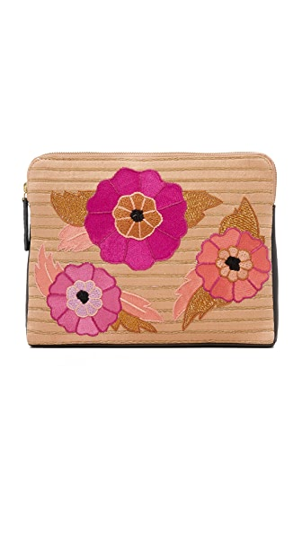 Lizzie Fortunato Safari Clutch with Flower Power