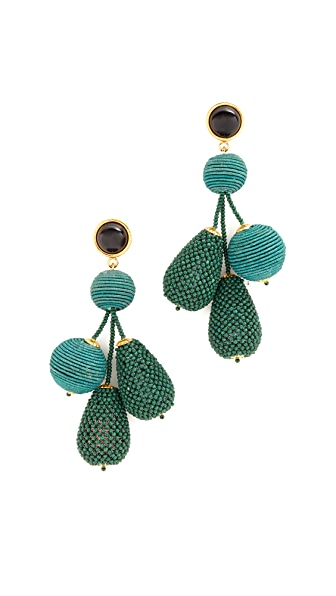Lizzie Fortunato Meteor Earrings - Gold/Blue-Green
