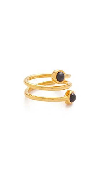Lizzie Fortunato Spiral Pinky Ring - Gold/Black