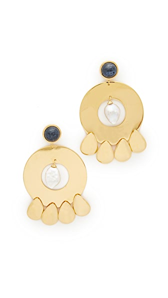 Lizzie Fortunato Golden Hour Earrings - Gold/Pearl