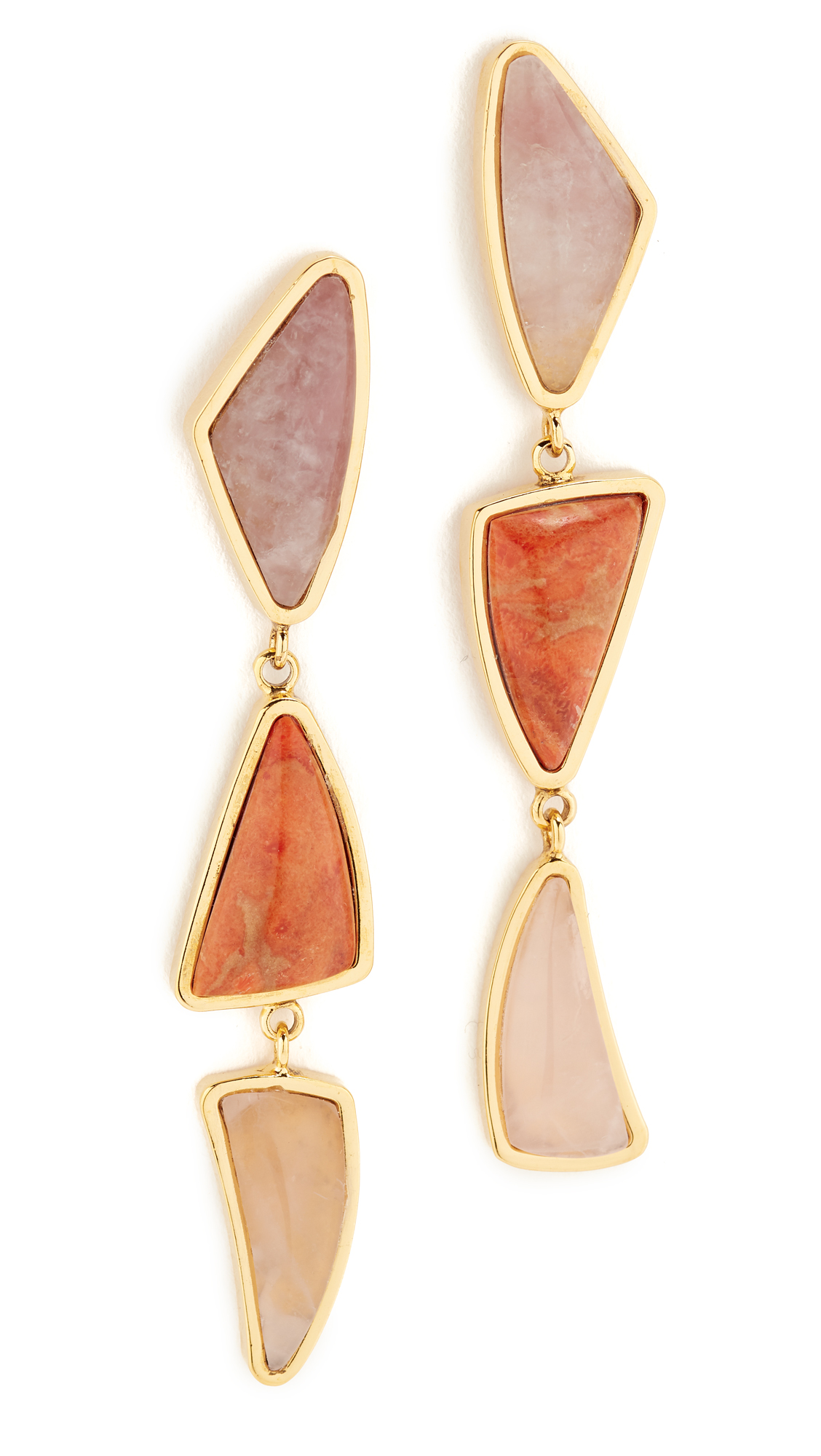 Lizzie Fortunato Prehistoric Earrings - Gold/Sunset