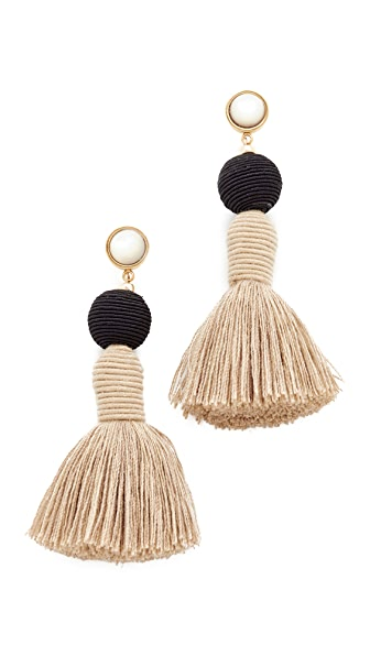 Lizzie Fortunato Modern Craft Earrings - Black/Natural